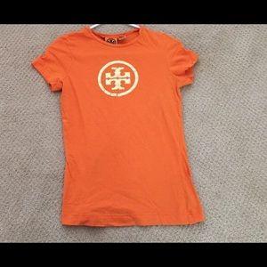TORY BURCH T-Shirt with Metallic Logo Size XS